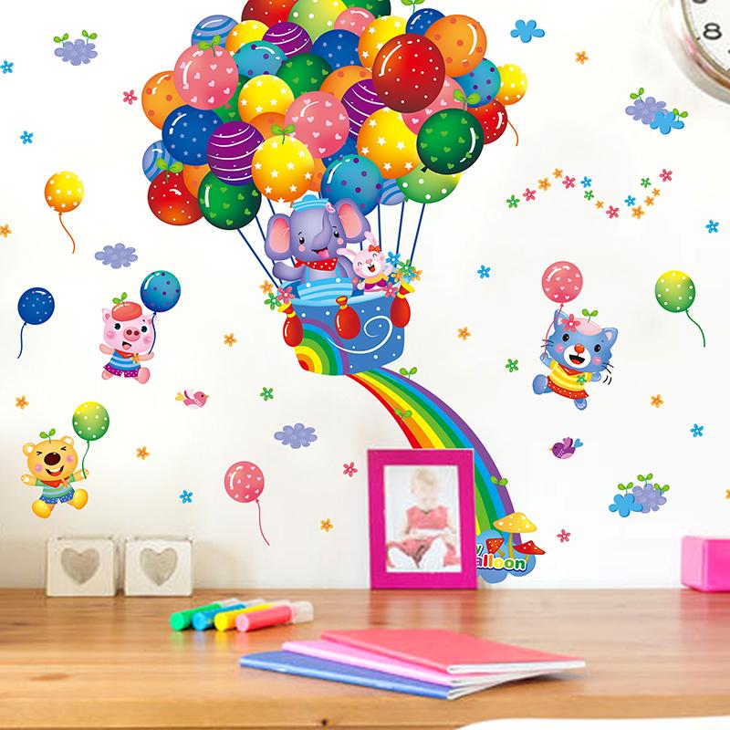 Živá Zeď Samolepka Letící slon 40 x 60 cm
