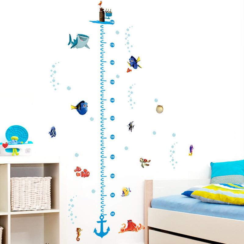 Živá Zeď samolepka Metr Nemo a Dory 125 x 68 cm
