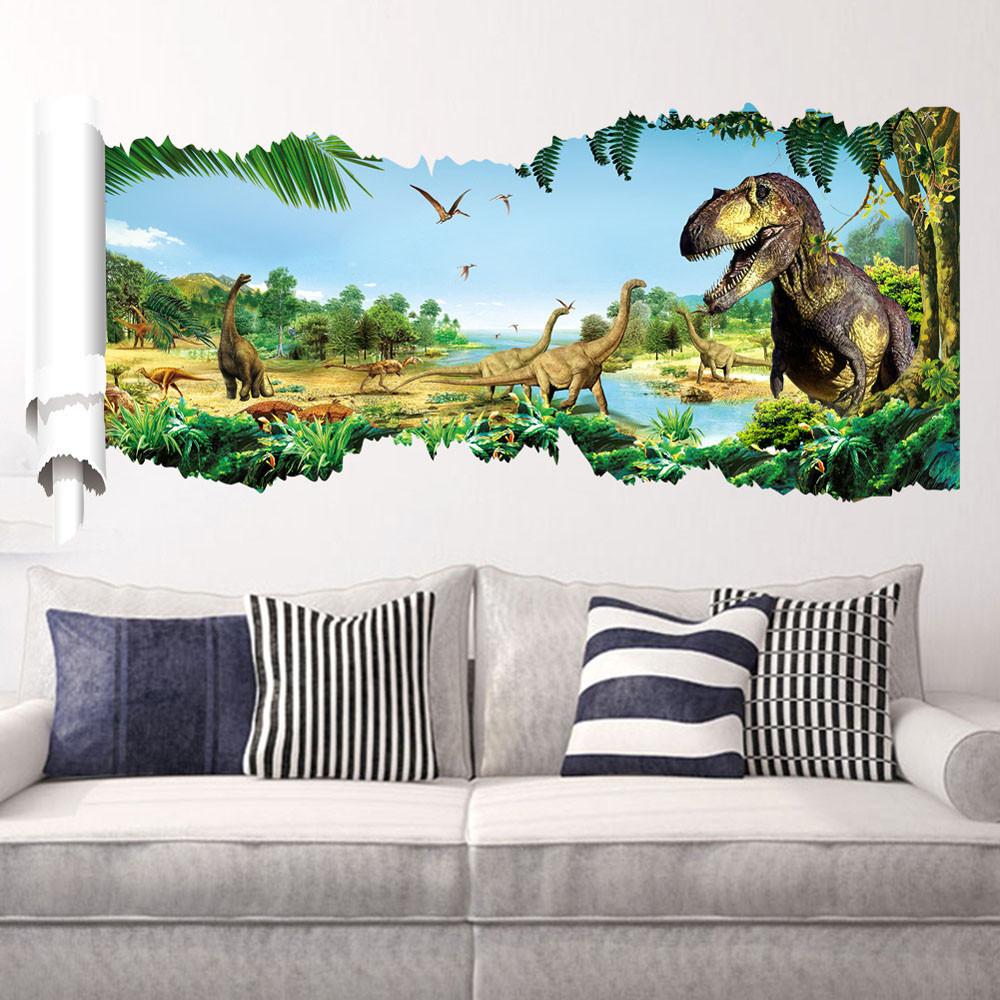 Živá Zeď Samolepka Dinosauři a Tyranosauři 90 x 50 cm