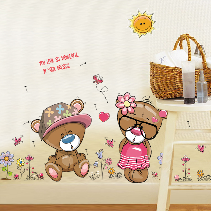 Živá Zeď Samolepka Hraví medvídci 110 x 60 cm