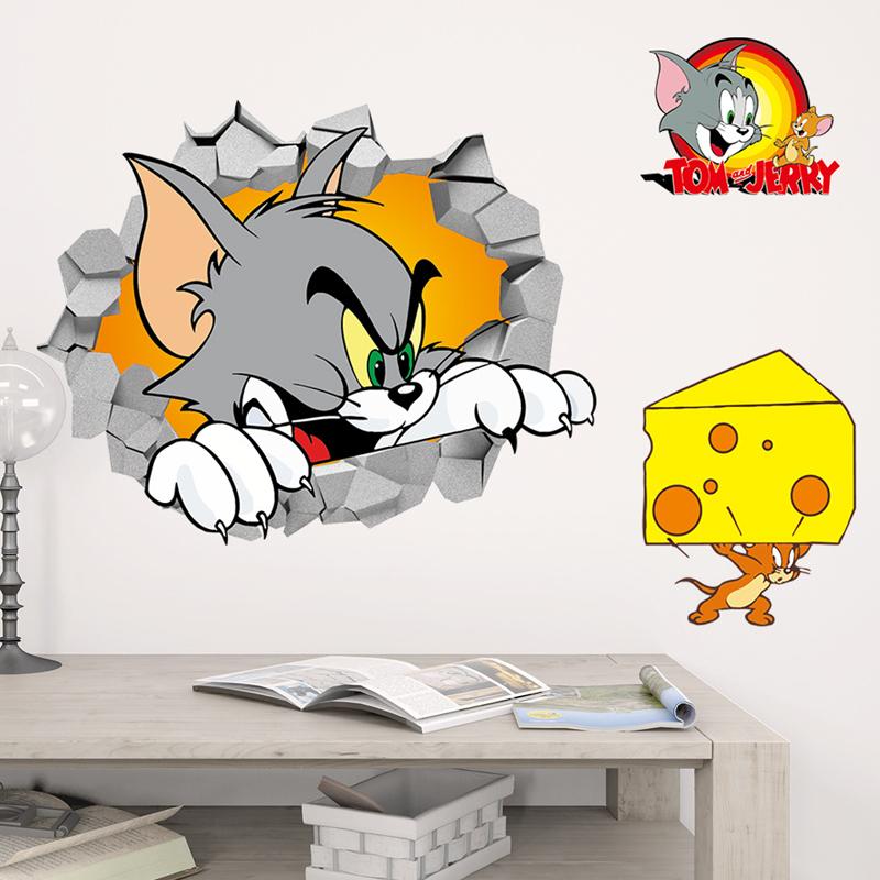 Živá Zeď samolepka Tom a Jerry 65 x 50 cm