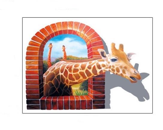 Živá Zeď samolepka Safari Žirafa 66 x 93 cm