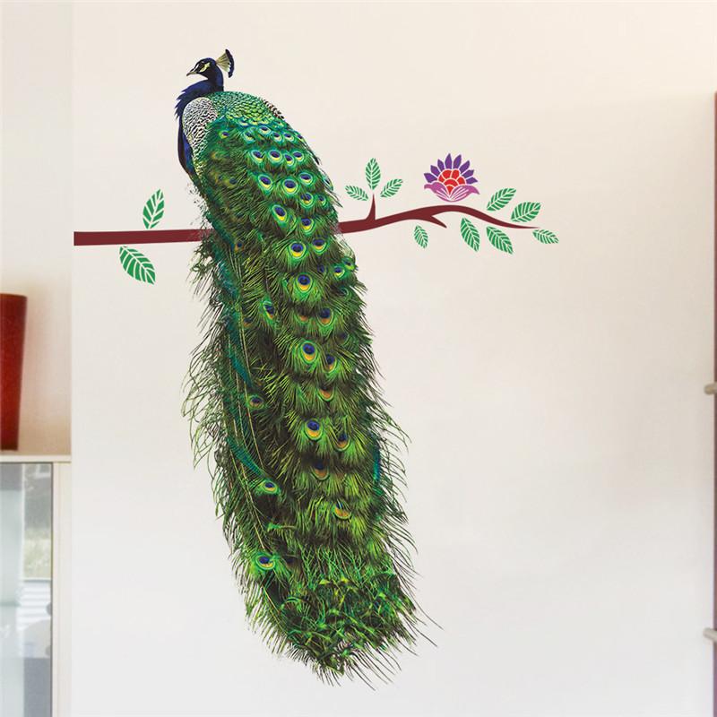 Živá Zeď samolepka Vznešený páv 75 x 58 cm