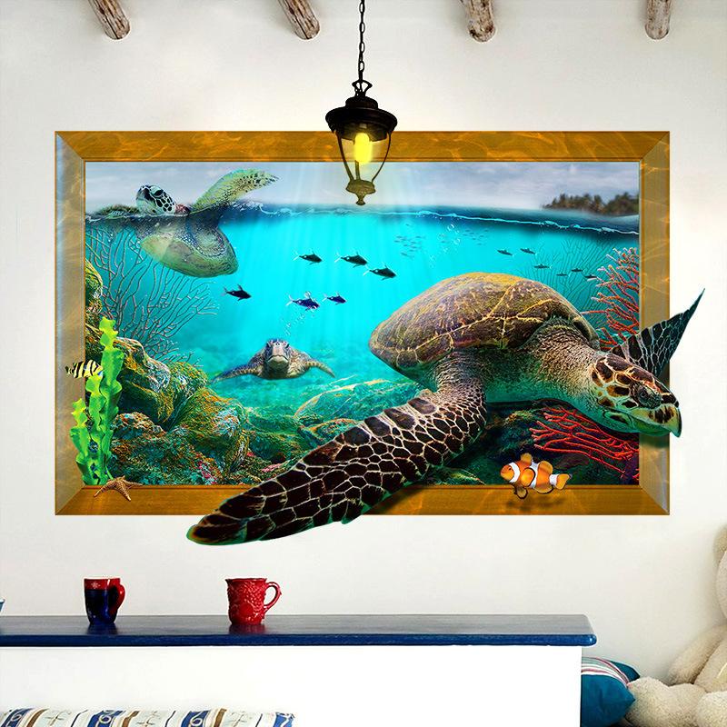 Živá Zeď samolepka Želvy 87,5 x 56,5 cm