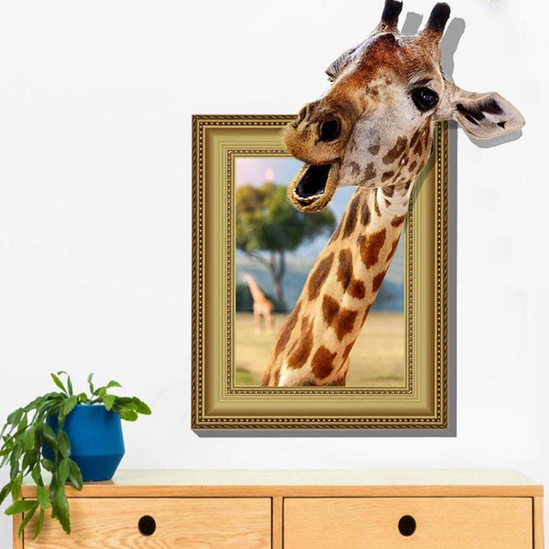 Živá Zeď samolepka Žirafa 70 x 95 cm