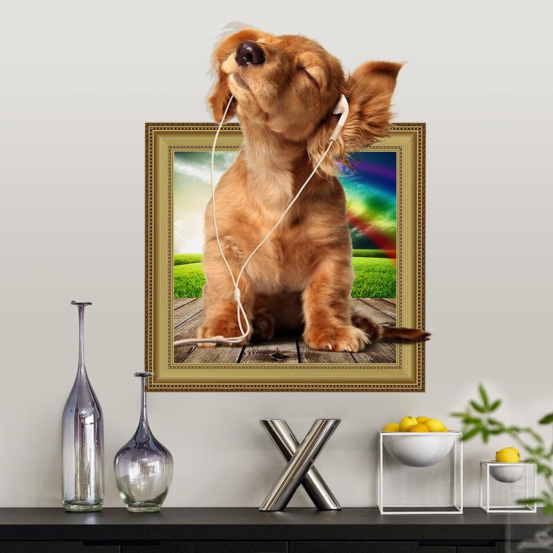 Živá Zeď samolepka Roztomilé štěně 47 x 37 cm