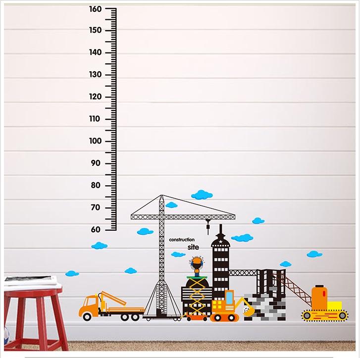 Živá Zeď samolepka Metr staveniště 135 x 95 cm