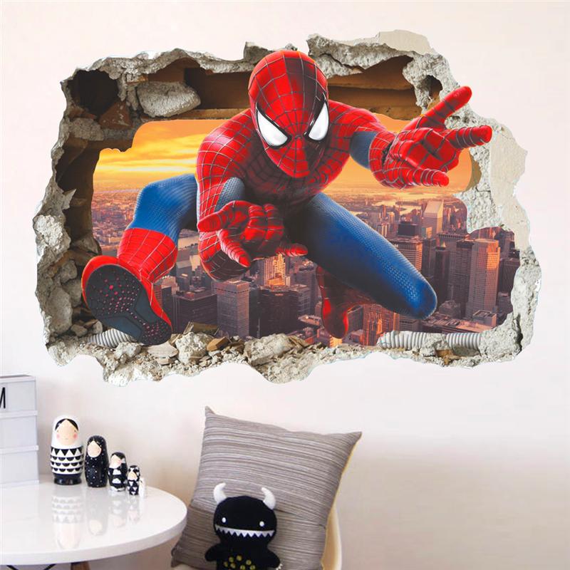 Živá Zeď Samolepka Spiderman pavoučí muž 70 x 50 cm