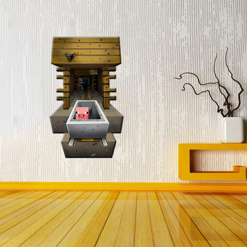 Živá Zeď samolepka Reuben Minecraft 67 x 44 cm