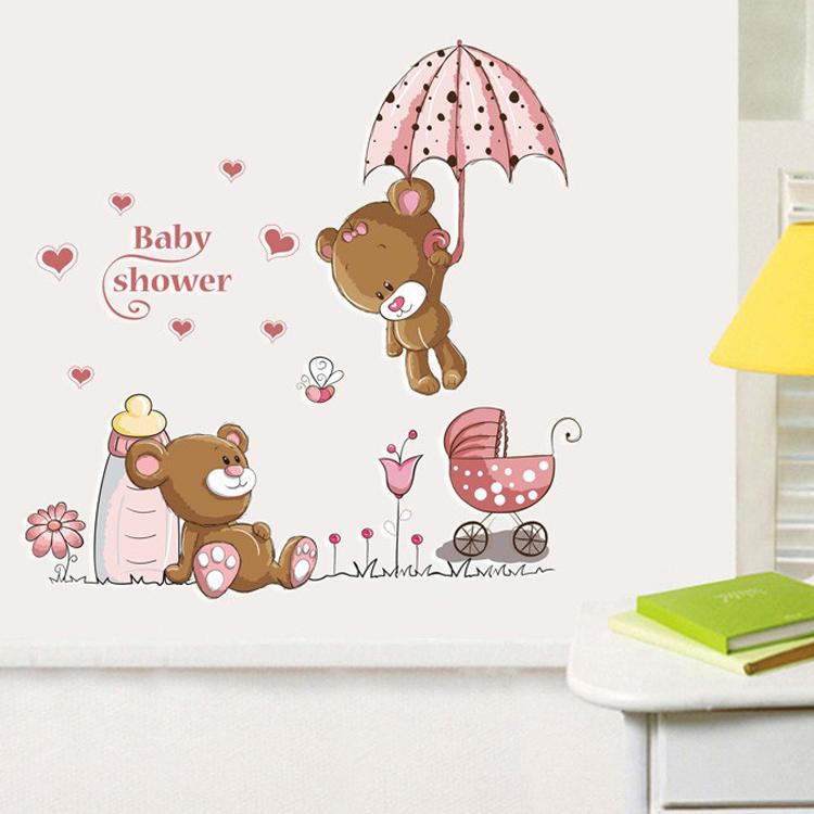 Živá Zeď samolepka Malí medvídci 77 x 77 cm