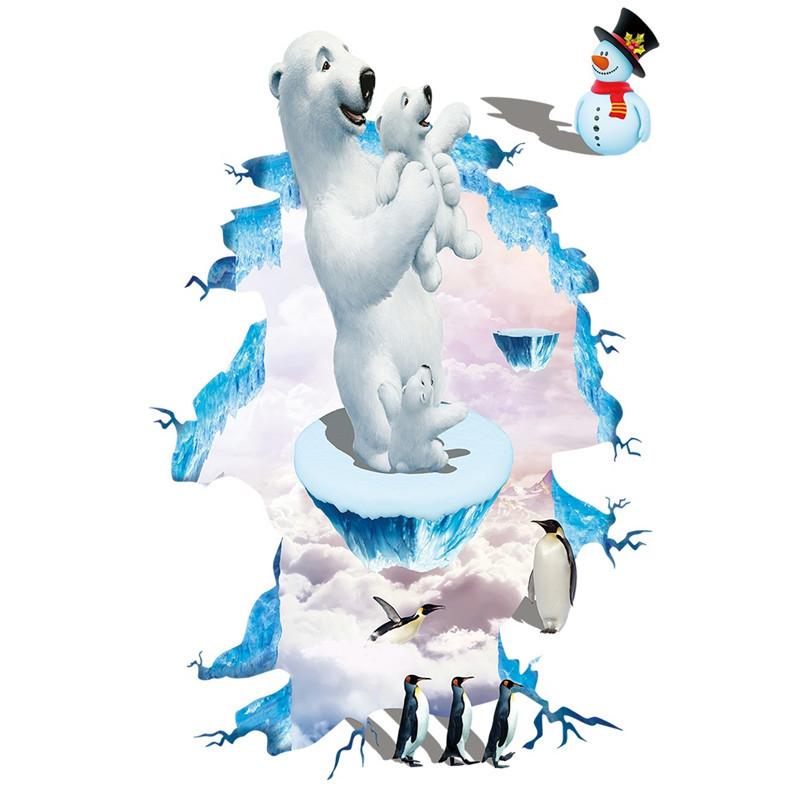Živá Zeď Samolepka Lední medvědi 88 x 57 cm