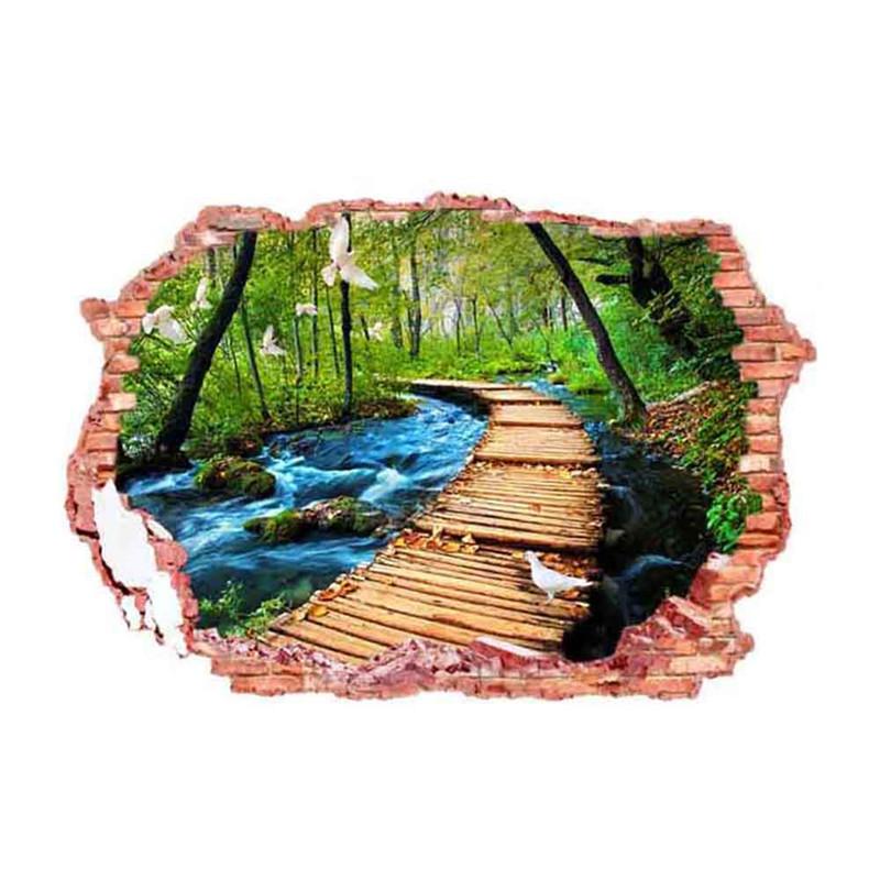 Živá Zeď Samolepka Lávka v přírodě 70 x 50 cm