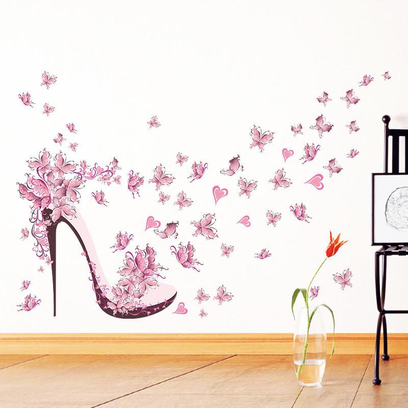 Živá Zeď Samolepka Růžový střevíc 100 x 65 cm