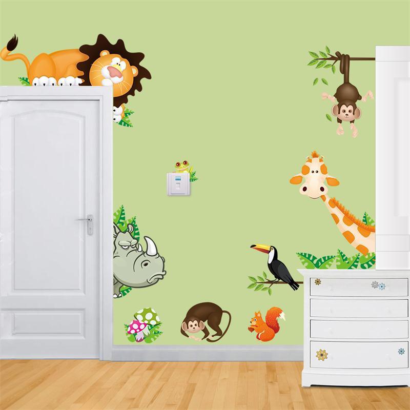 Živá Zeď Samolepka Zvířátka