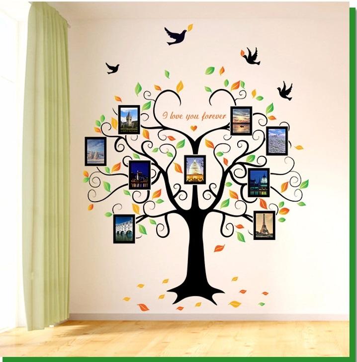 Živá Zeď Samolepka Strom zamilovaných vzpomínek 204 x 160 cm