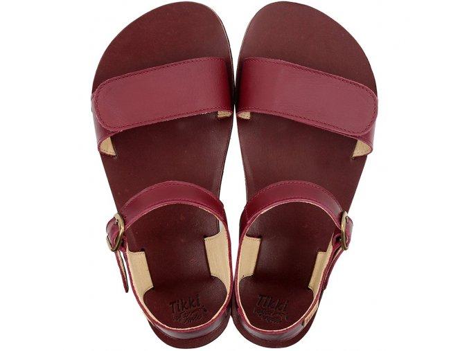 funky vibe barefoot women s sandals burgundy 21475 4