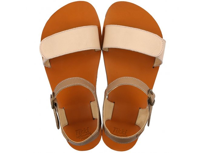 funky vibe barefoot women s sandals nude cappuccino 21697 4