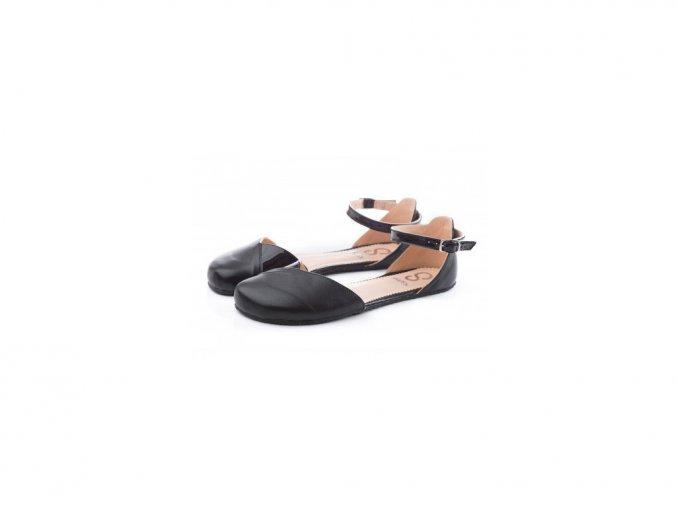 Shapen Sandálky POPPY II Black WIDE - širší
