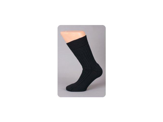 Surtex ponožky tmavé froté 95% merino