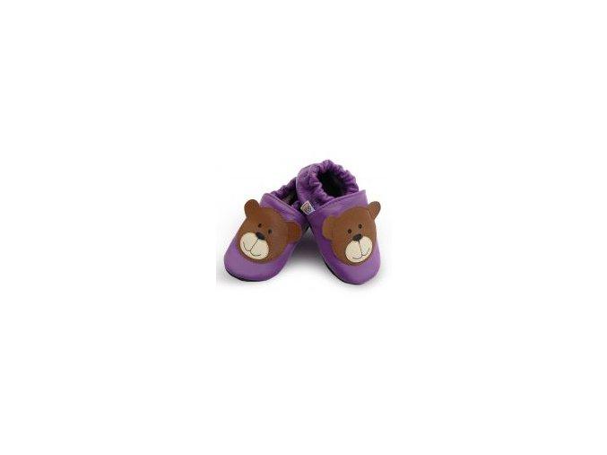 kozene capacky medvidek fialovy 0