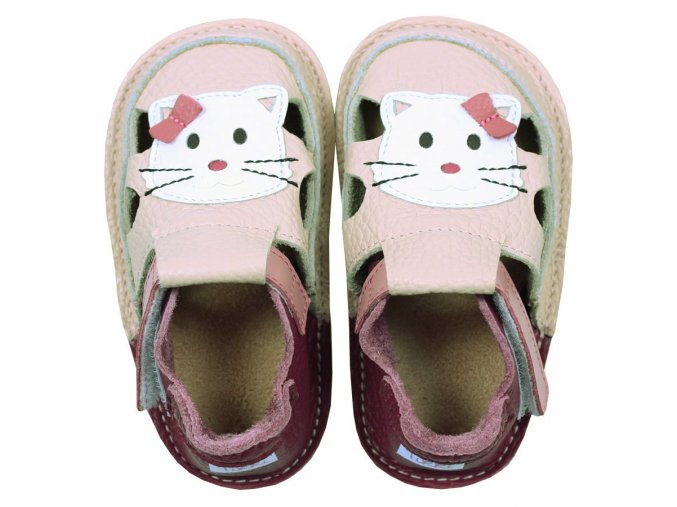 barefoot kids sandals meow kitty 115 4
