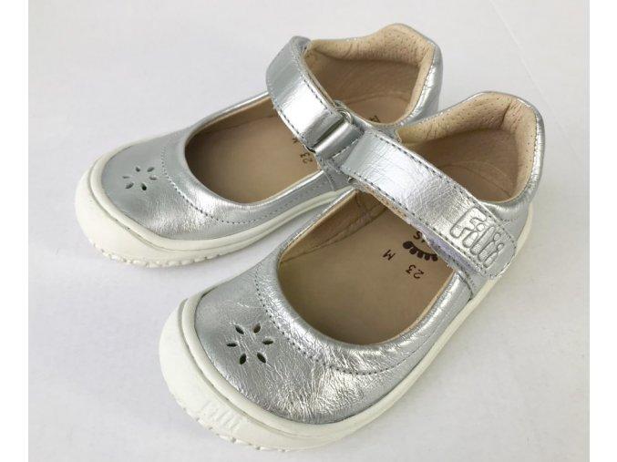 Filii barefoot - ballerina 19322-110 Elsa M velcro nappa - silver