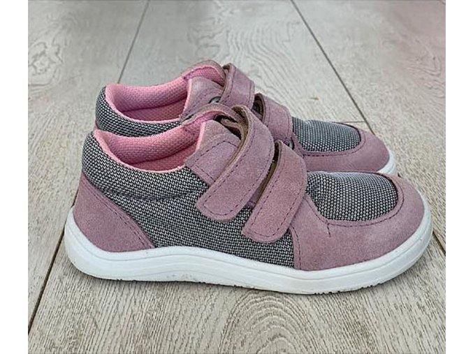 baby bare febo sneakers pink grey