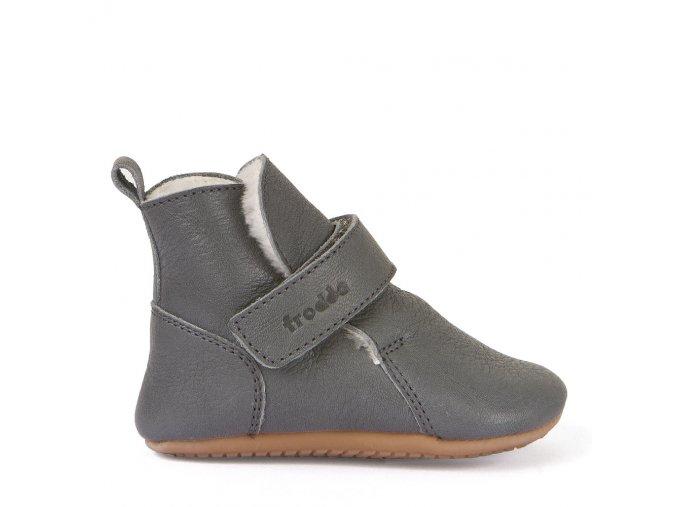 Froddo Prewalkers G1160001-10K, kožešina, šedé