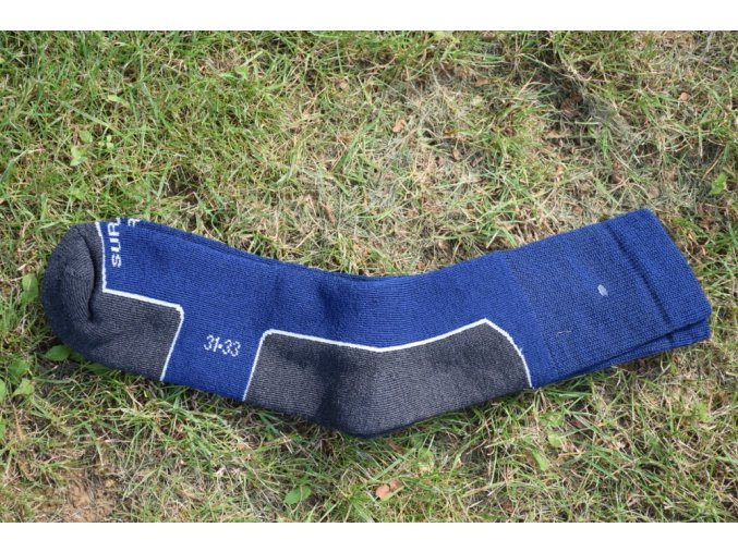 Surtex ponožky ZIMA volný lem 95% merino - tmavé