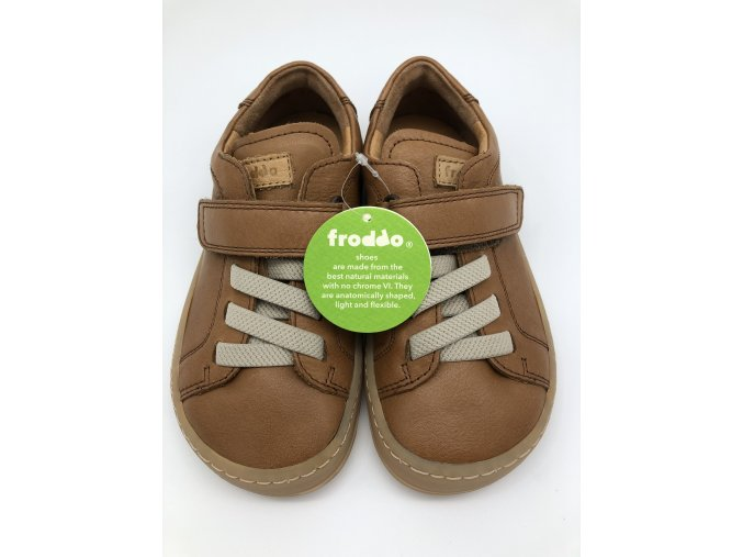 Froddo barefoot celoroční nižší G3130149-3/G3130175-2 BROWN - 1 suchý zip a gumička