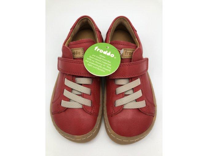 Froddo barefoot celoroční nižší G3130149-5 RED - 1 suchý zip a gumička
