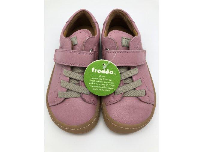 Froddo barefoot celoroční nižší G3130149-6 PINK - 1 suchý zip a gumička
