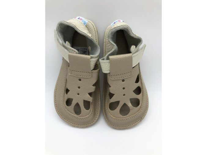 Baby Bare Shoes IO Gold - Summer perforation