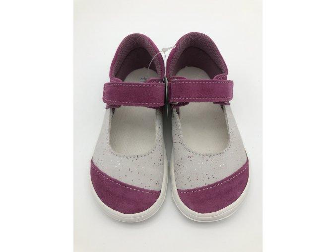 Jonap Barefoot B14 - růžové balerínky SLIM
