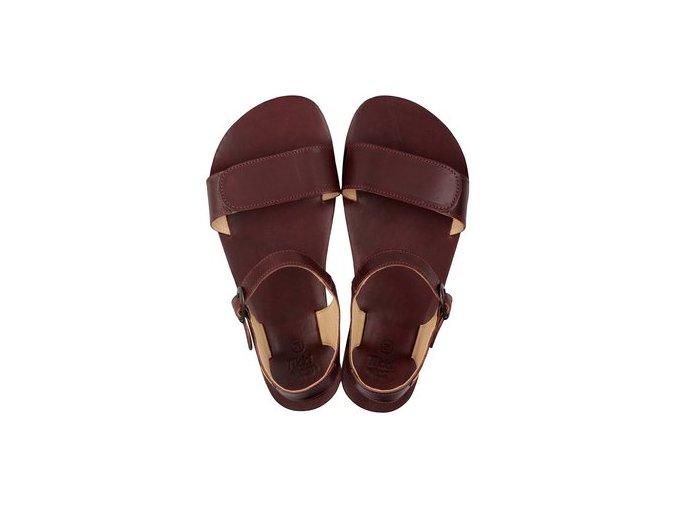 funky vibe barefoot women s sandals burgundy 16194 2
