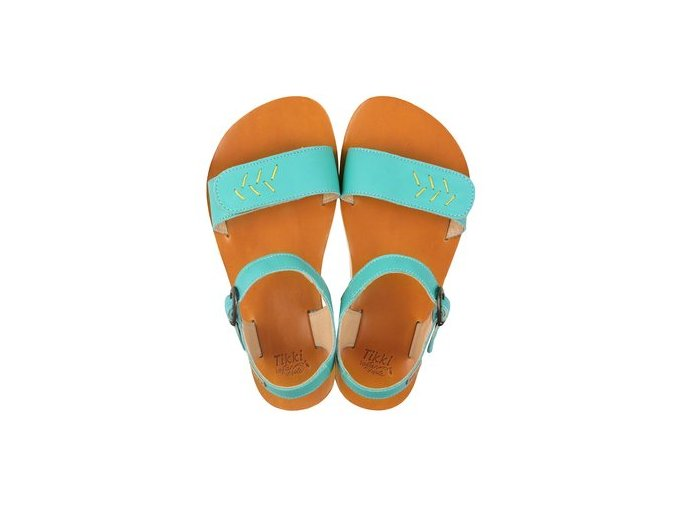funky vibe barefoot women s sandals golden turquoise 16024 2