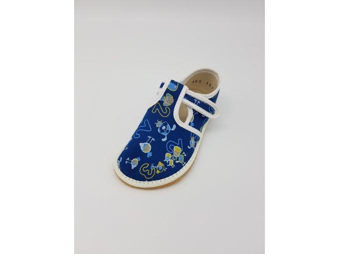 Jonap Barefoot bačkůrky - čísla/pejsek na modré