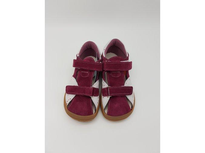 Jonap Barefoot B8/S - vínové sandálky