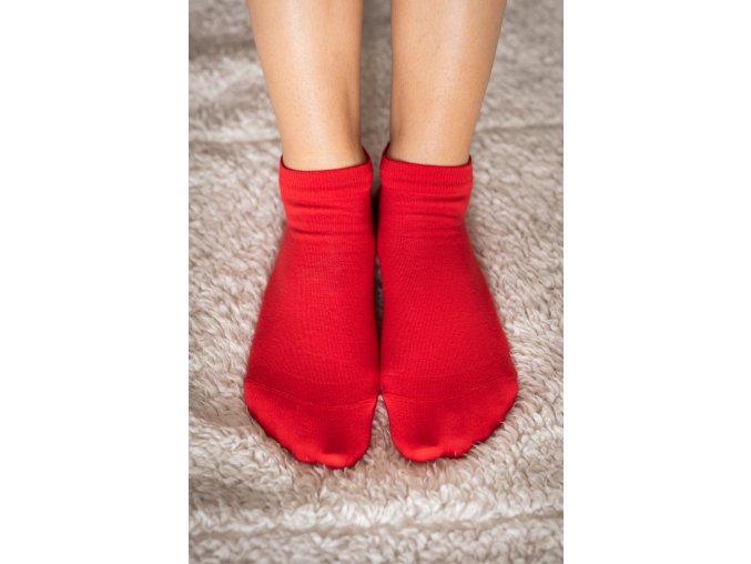 Be Lenka barefootové ponožky - červené nízké