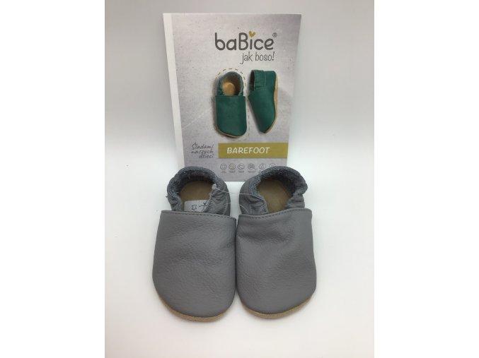 baBice barefoot capáčky BA088 - tmavě šedé