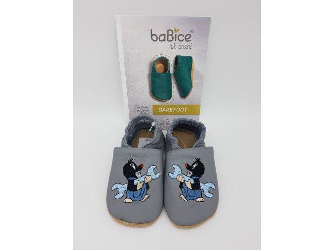 baBice barefoot capáčky EM013 - Krteček šedý