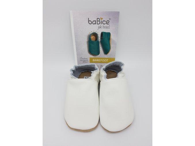 baBice barefoot capáčky BA001 - bílé