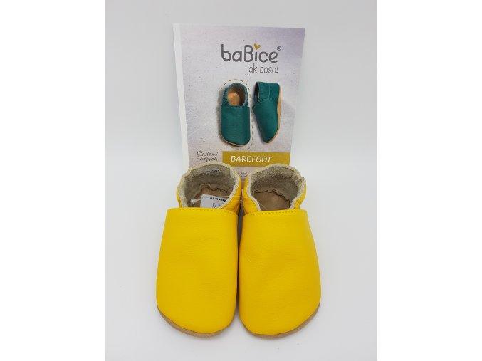 baBice barefoot capáčky BA058 - žluté