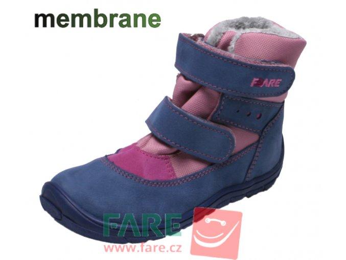 FARE BARE DĚTSKÉ ZIMNÍ NEPROMOKAVÉ BOTY B5441251 růžovo-modré