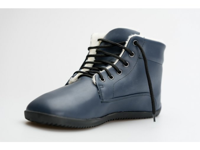 zimni barefoot vegan boty modra (2)