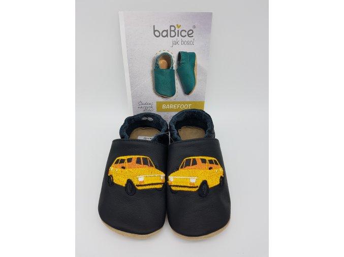 baBice barefoot capáčky EM045 - auto žluté