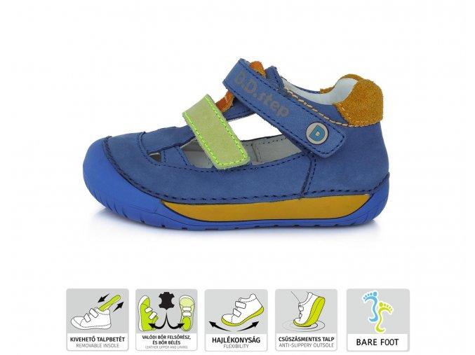 DDstep sandálky 070-698 Bermuda Blue
