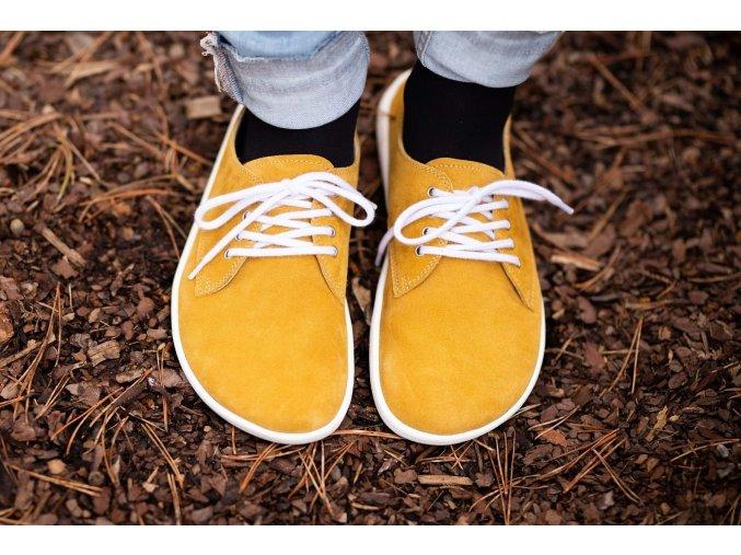 barefoot be lenka city mustard white 11653 size large v 1