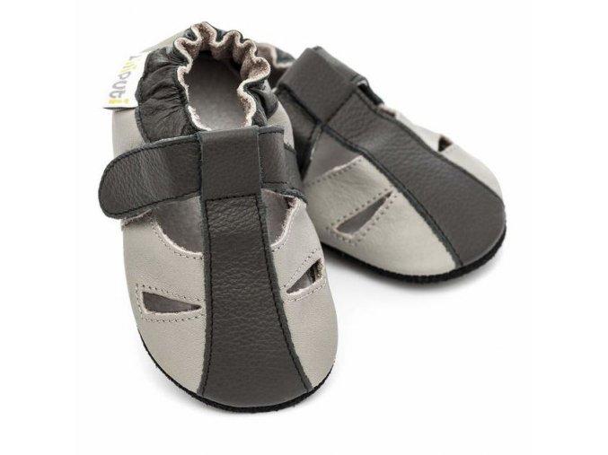 Liliputi capáčky - sandálky Stone - 3-vrstvá podrážka