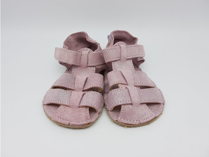 Baby Bare Shoes Sandals Sparkle Pink